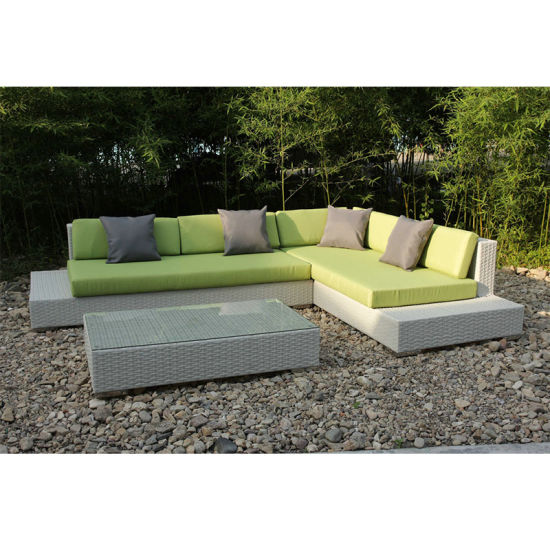 Waterproof Customized Soft Cushion Garden Rattan Outdoor Sofa Set (FS-3101+3102+3103+3104+3105) pictures & photos
