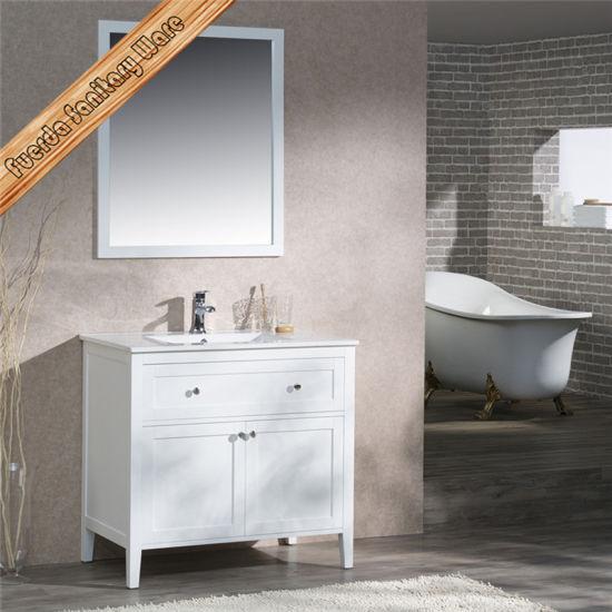 Fed 1960a High Quality Solid Wood Bathroom Vanity Cabinet