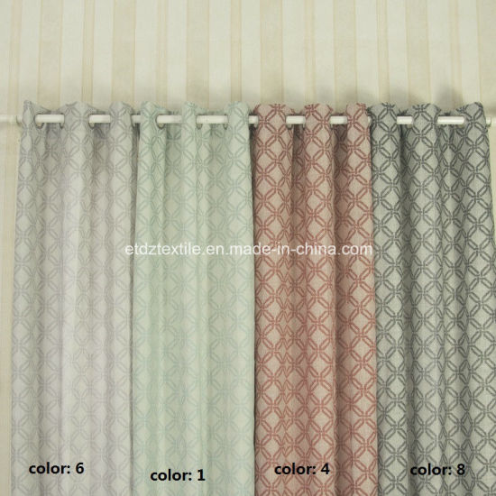 Newest Typical Special Yarn Dyed Linen Looking Jacquard Curtain pictures & photos