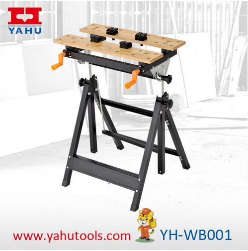 Adjustable Worktable Foldable Wooden Workbench for Woodworking (YH-WB001)