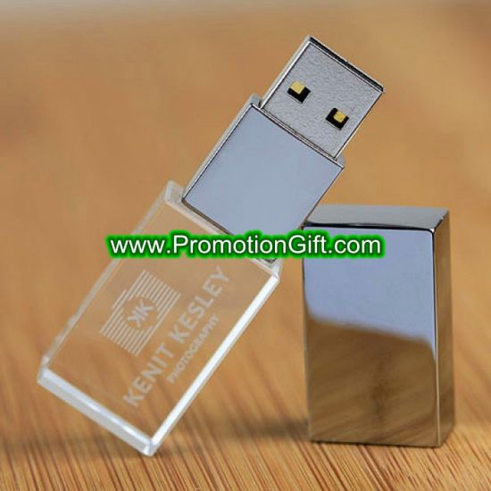 Transparent Crystal USB Flash Drive