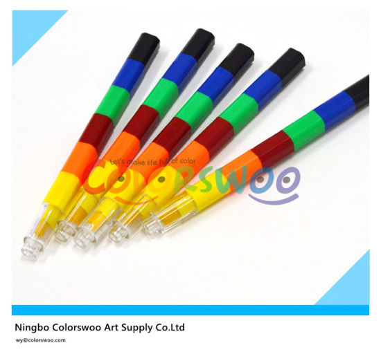 6 Colors Rainbow Crayons For Students And Kids