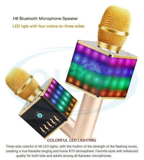 Mikrofon Handheld Bluetooth Wireless Karaoke Microphone Phone Player Mic  Speaker Record Music KTV Microfone for iPhone PC