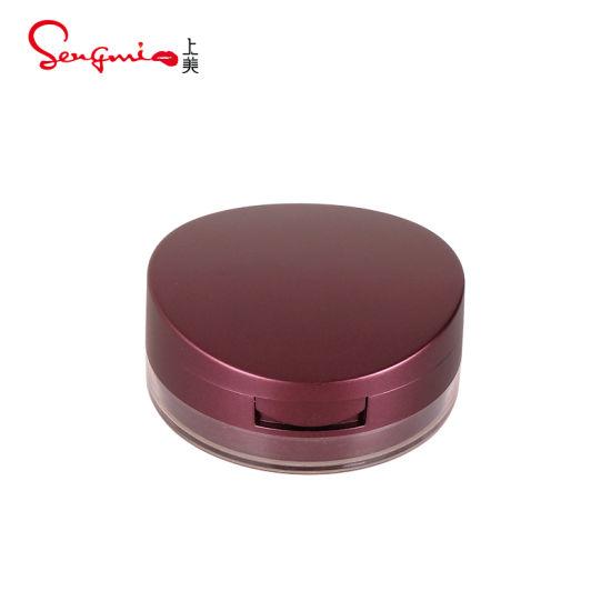 Manufacturer Loose Powder Jar Clear Brown Lid Luxury Loose Powder Jar Packaging