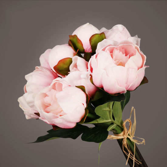 China 6 heads bunch of peony decorative artificial flowers fake 6 heads bunch of peony decorative artificial flowers fake pink flower pink artificial flower mightylinksfo