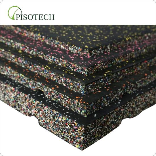 Outdoor Indoor Rubber Tile / Fitness Rubber Mat / Crossfit Gym Rubber Floor for Gym Equipment Use