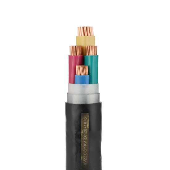 XLPE Insulation PVC/PE Sheathed Armored Underground Electrical Power Cable