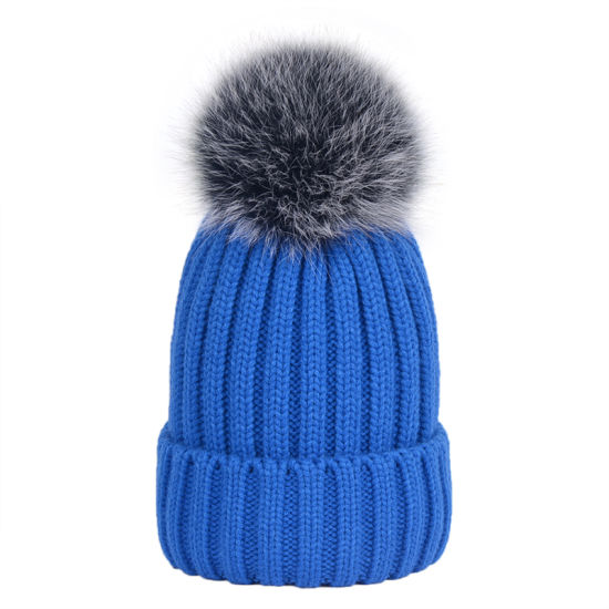 220a9f8272667 China 100% Acrylic Custom Blank Winter Warm Beanie Knitted Bobble ...