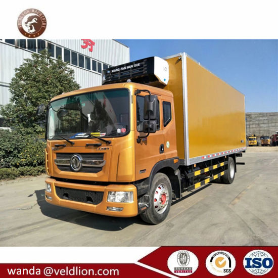 2018 Model New 180HP 8 Tons 8tons Refrigerator Truck for Milk Transportation