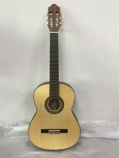 High Quality Solid Wood 39'' Classical Guitar for Musical Instrument