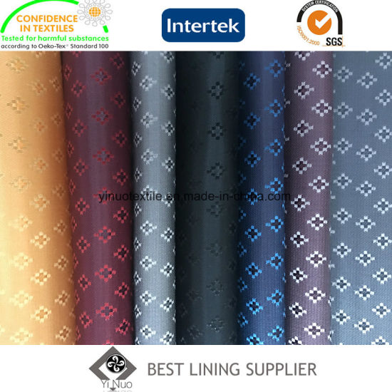 100% Polyester Suit Jacket Jacquard Liner Lining Fabric China Supplier