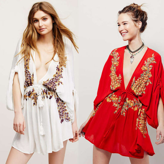 Summer Women's Fashion Casual Embroidery Loose Human Cotton Blouse