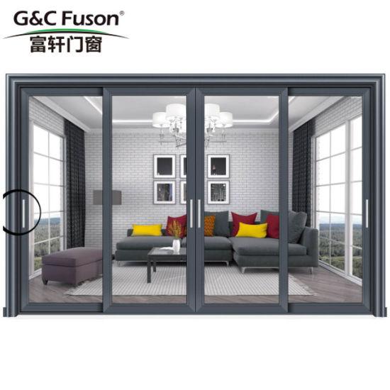China Best Price Exterior Aluminium Double Glazing Sliding Doors For