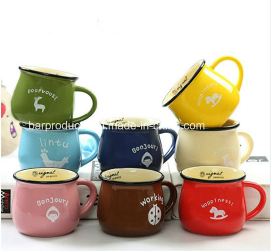 China Wedding Return Gift Enamelware Mugs Wholesale Tea Cups