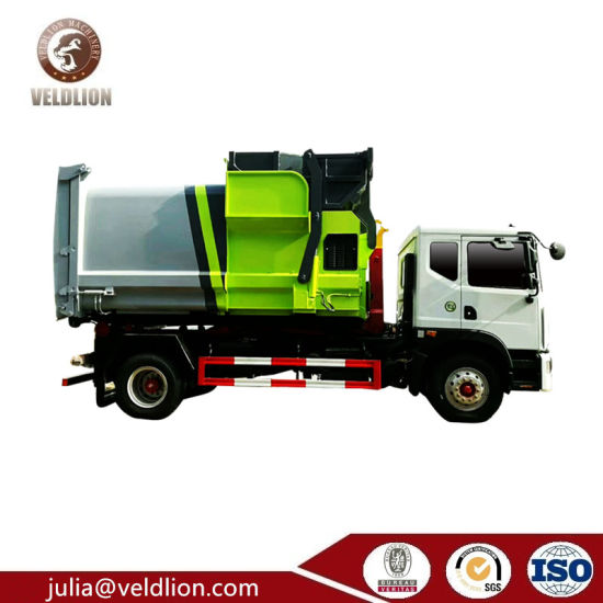 Top Mobile Refuse Compactor Station 18 M3 Garbage Compactor Waste Hooklift Truck pictures & photos