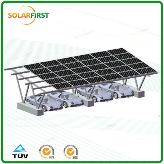 Prefabricated Carport Solar Mounting Rack System for Sale pictures & photos