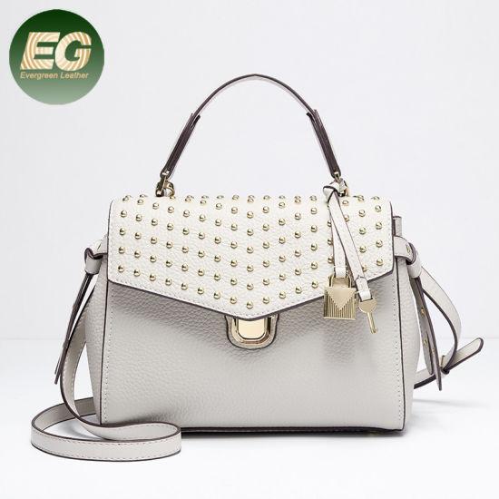 17ac53080ee Wholesale Bags Designer Women Rivets Locking Handbags Emg5391