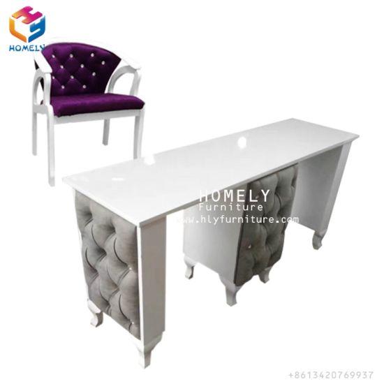 Beauty Salon Whole Custom Double Manicure Table Por Portable Nail