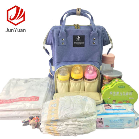 Multifunction Baby Diaper Bag Backpack with Changing Pad Stroller Straps