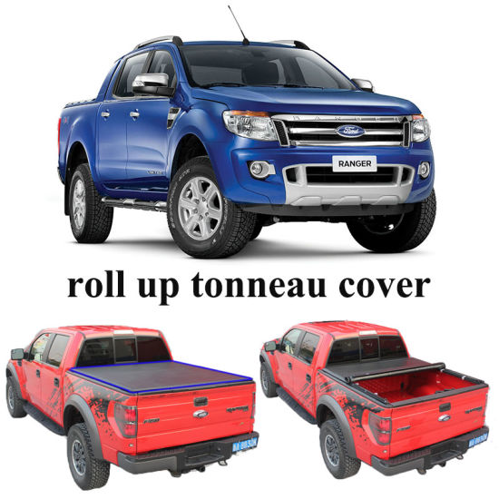 China Oem Pickup Box Covers For Ford Ranger T6 Double Cab China Tonneau Cover Roll Up Tonneau Cover