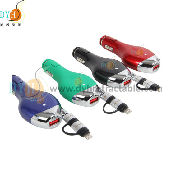 Cigarette Lighter Sockets Splitter USB Charger Cable pictures & photos