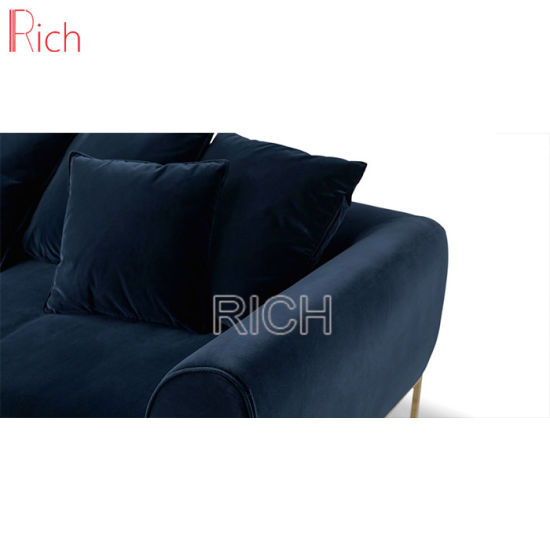 china factory direct sale blue velvet sofa classic wood frame sofa rh rich furniture en made in china com velvet sofa for sale near me velvet sofa for sale in kent