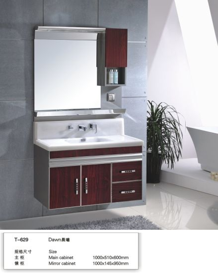 Lower Wholesale Factory 201 Steel Modern Wall Bathroom Vanity Project
