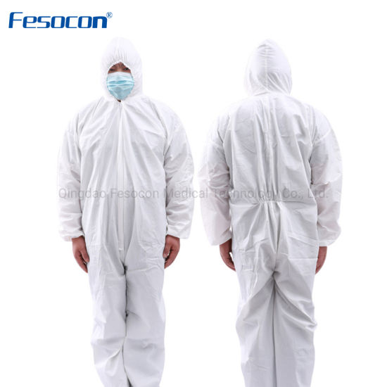 Competitive High Quality Manufacturer PPE Disposable Safety Men and Women Clothing Non-Woven Coverall