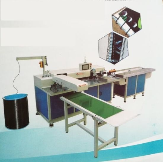 Automatic Punching, Forming Single Spiral Wire and Binder Machine Vkd-400pfb
