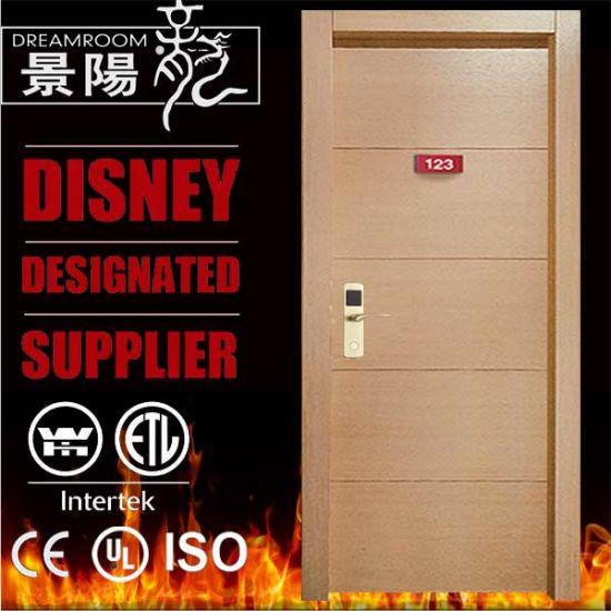 Intertek Wh UL10c Hotel Wooden Fire Door