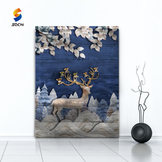 Metal Decoration Oil Painting Wall Art 3D Dimension