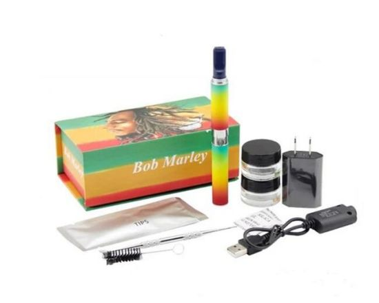 Herbal Wax Dry Herb Vape Pen Starter Kit Box DAB Electronic Cigarette Bob Marley Vaporizer