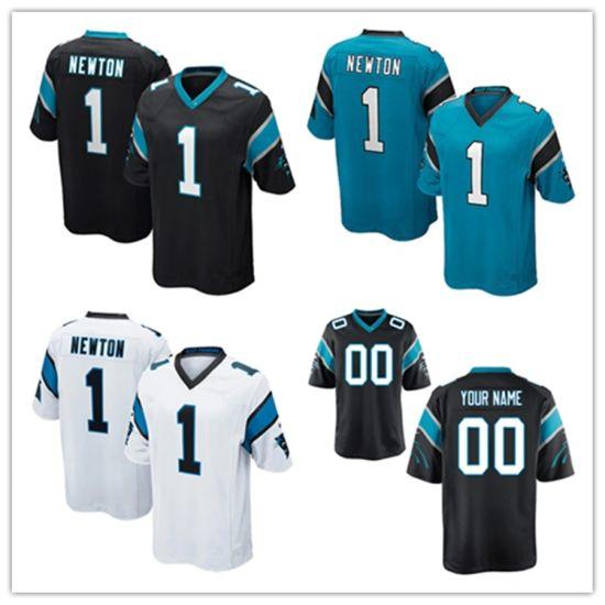 Wholesale 2019 N-F-L Panthers 1 Cam Newton Carolina Football Jerseys