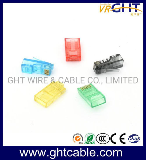 High Quality Gold Plated RJ45 Connector for Cat5e pictures & photos
