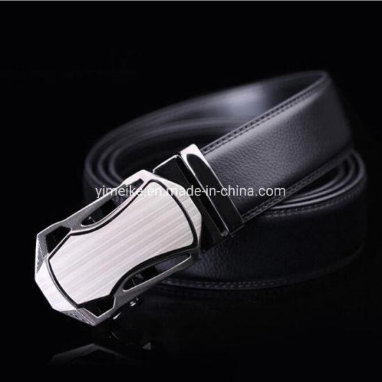 Simple Mens Genuine Leather Belt Fashion Bussiness Belt Square Buckle 4 Size