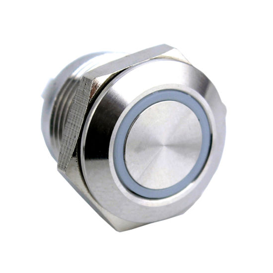 IP67 Ring LED 16mm Short Momentary Waterproof Push Button Switch