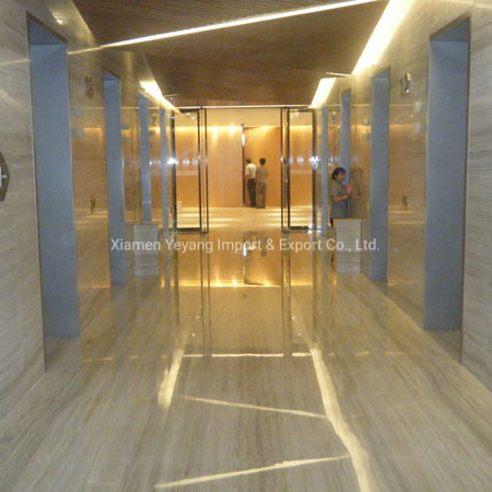 Polished Interior Decoration Wood Grain Marble for Flooring/Wall