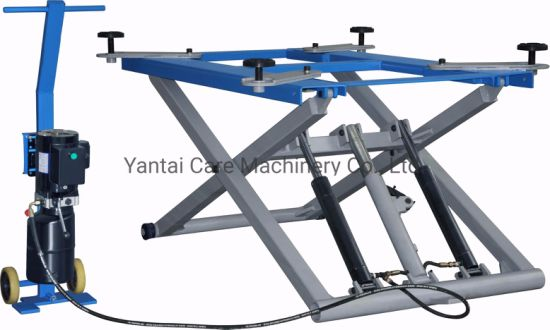 Scissor Type Electric Hydraulic Portable Car Lift for Sale