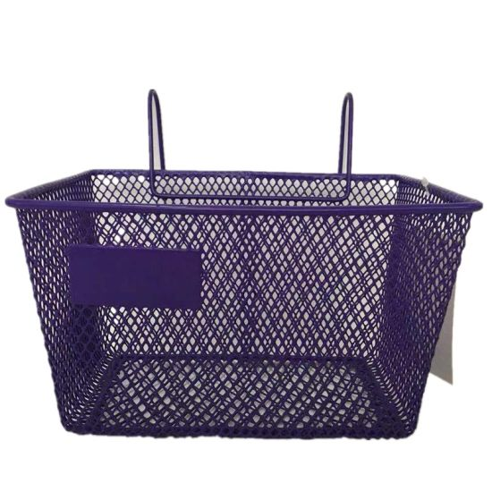 Popular Kids Steel Mesh Bicycle Basket Without Handle in Europe of Bicycle Parts