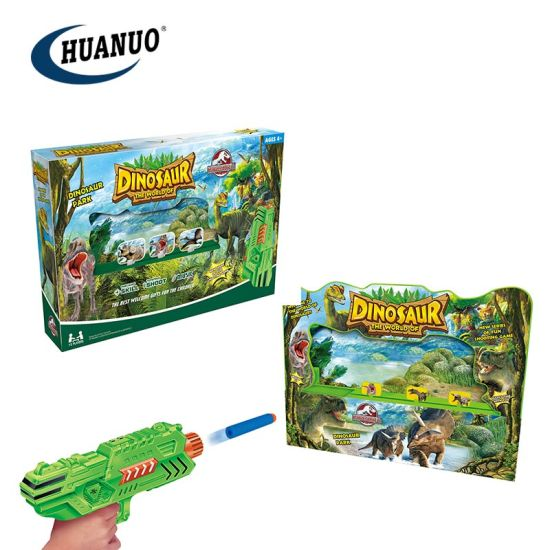 New Plastic Shooting Toys Dinosaur Soft Bullet Game with Music pictures & photos