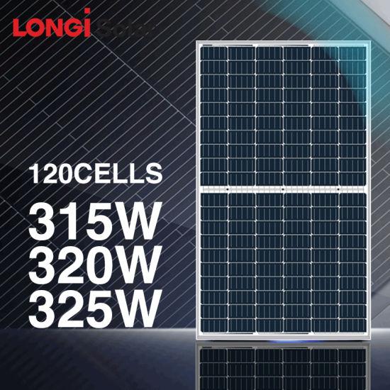 Longi High Efficiency Half Cell Solar Panel 315W 320W 375W 380W Mono Solar Panel