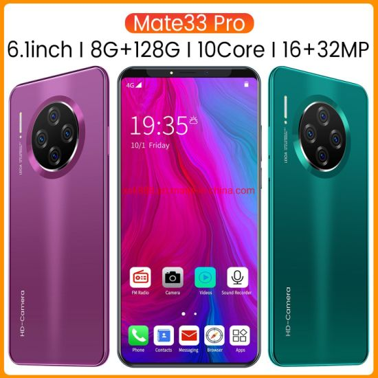 OEM Customized Mobile Phone New Mate33 PRO Smart Phone Cross Border Mobile Phone 6.1 Inch HD Large Screen Eight Core Mobile Phone 1 + 16g Smart Phone