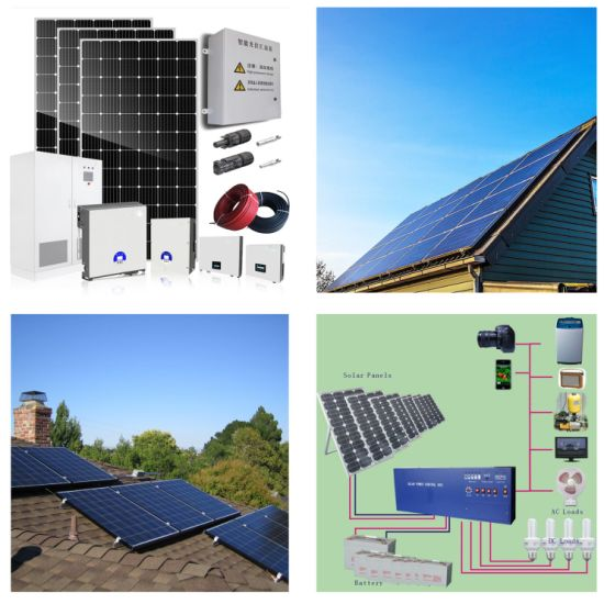 3kw 3000W off Grid on Grid Mono Solar Panel System for Home pictures & photos