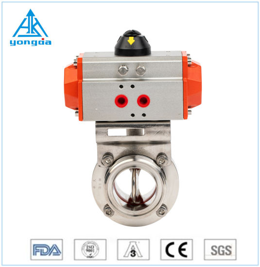 Hot Sale Sanitary Stainless Steel Food Grade Pneumatic Diaphragm Ball Butterfly Check Samples Globe Valve
