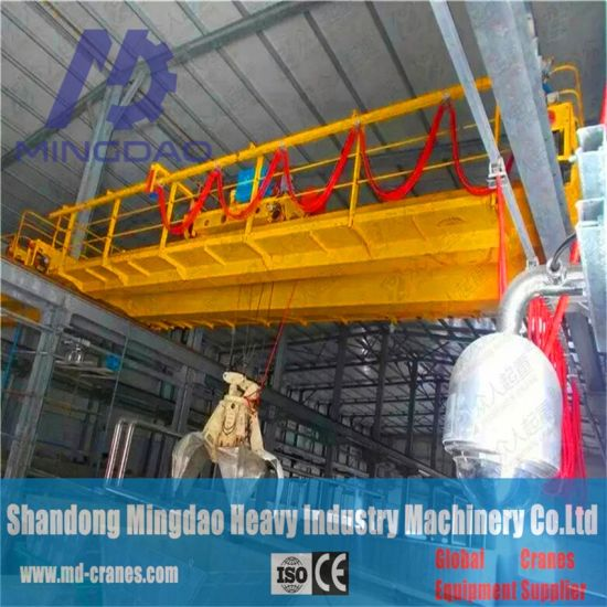 China Mingdao 5ton Grab Bucket Bridge Crane with Various Styles