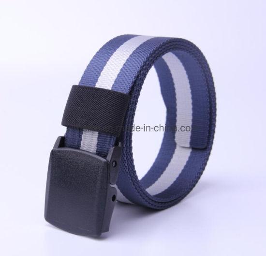 Fashion Stripes Men Leisure Waistband Nylon Fabric Belt