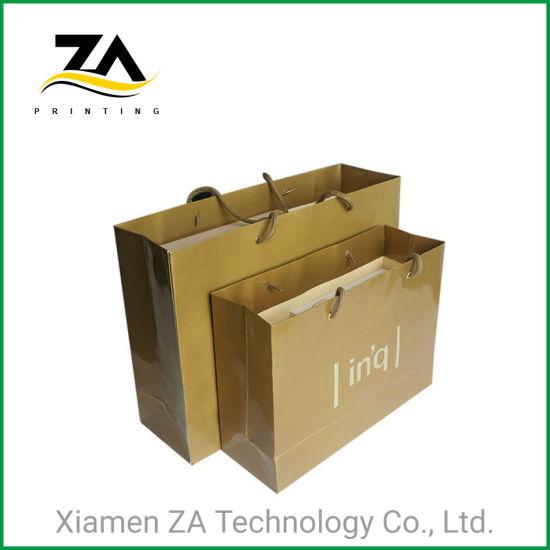 High Quality Paper Packing Black Matt Laminate Paper Bag