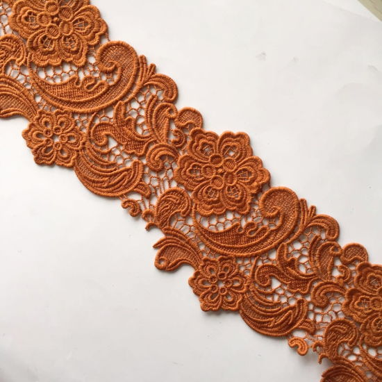Embroidery Lace Trim Micro Fiber Water Melts Lace