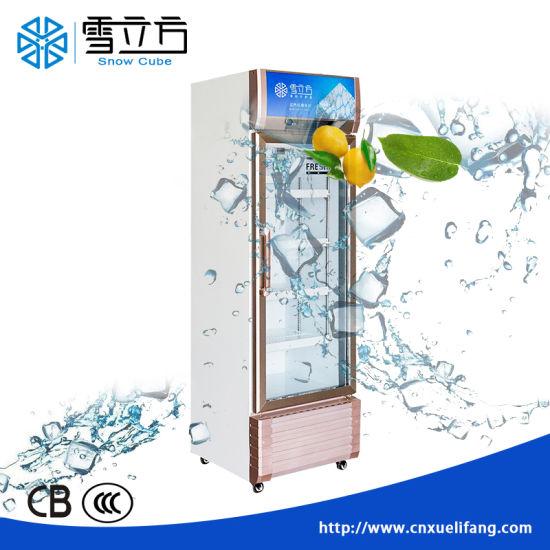 Wholesale Commercial Glass Door Freezer Swing Double Glass Door Redbull Refrigerator