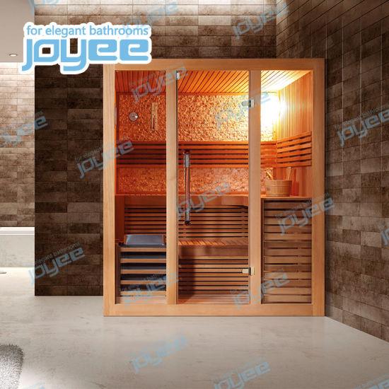 Joyee New Design Dry Wooden Sauna Cabin with Sliding Door